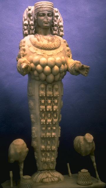 Ephesian Artemis, Queen of the positive magic of the Moon