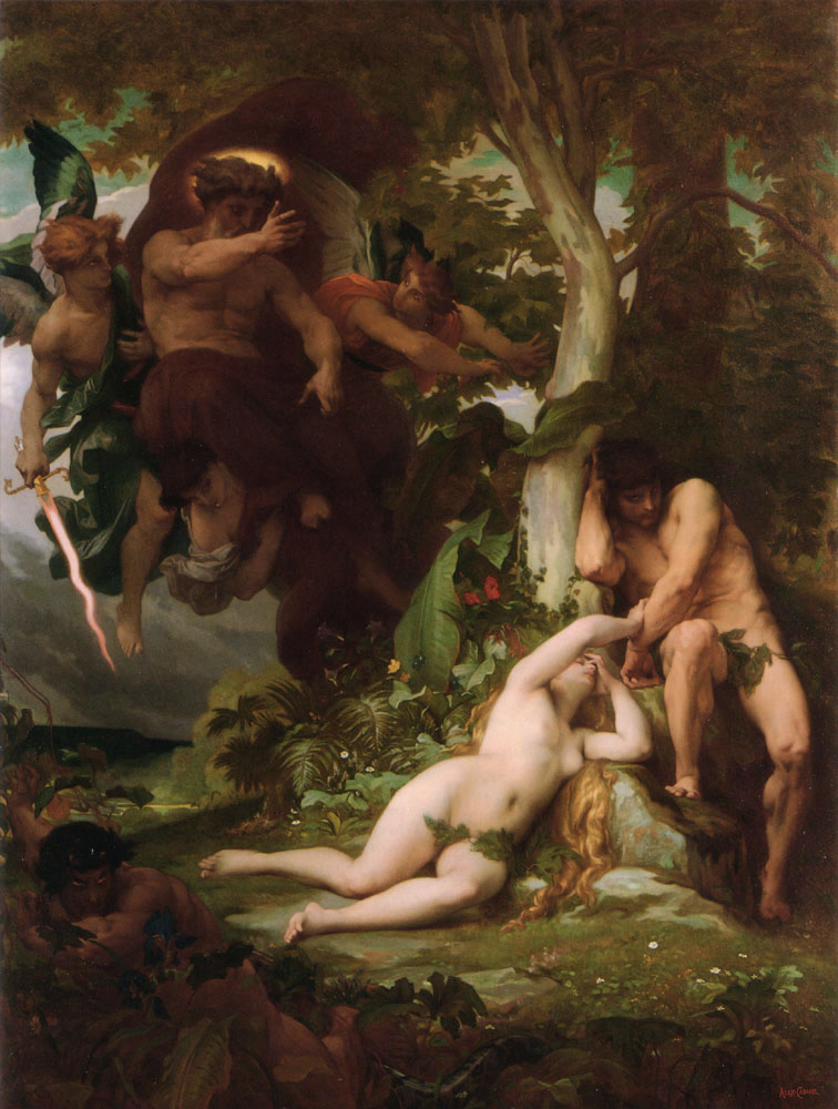 Alexandre Cabanel: The Expulsion of Adam and Eve from the Garden of Paradise (Eden)