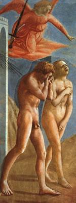 Adem ve Havva Cennetten kovuluyor