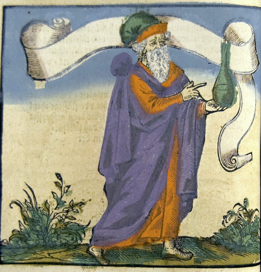 alchemist indicating vessel