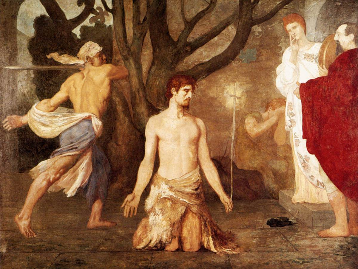 Puvis de Chavannes Pierre-Cécile - The Beheading of St John the Baptist - c. 1869