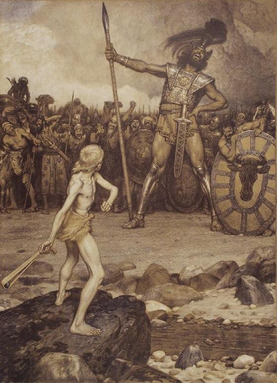 Osmar Schindler: David und Goliath
