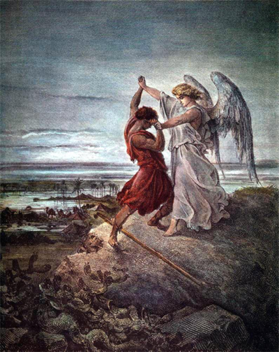 Jacob fighting with the Angel Samael