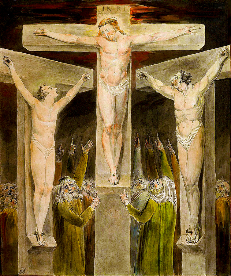 Crucifixion by william blake