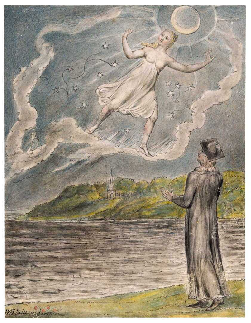 The Wandering Moon by William Blake