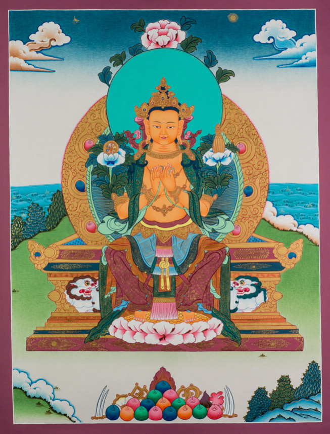 maitreya seated