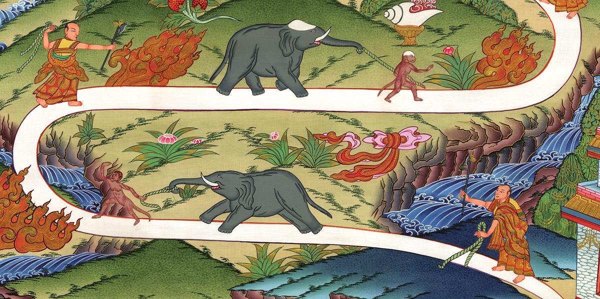 tibetan painting of meditation