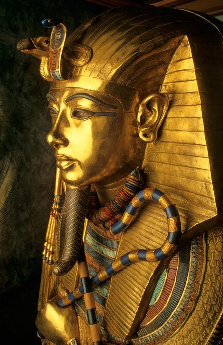 forehead of Tutankhamen