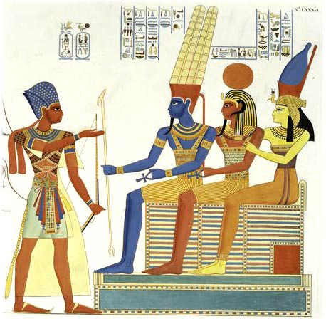 rameses 2 facing amun, khans, mut