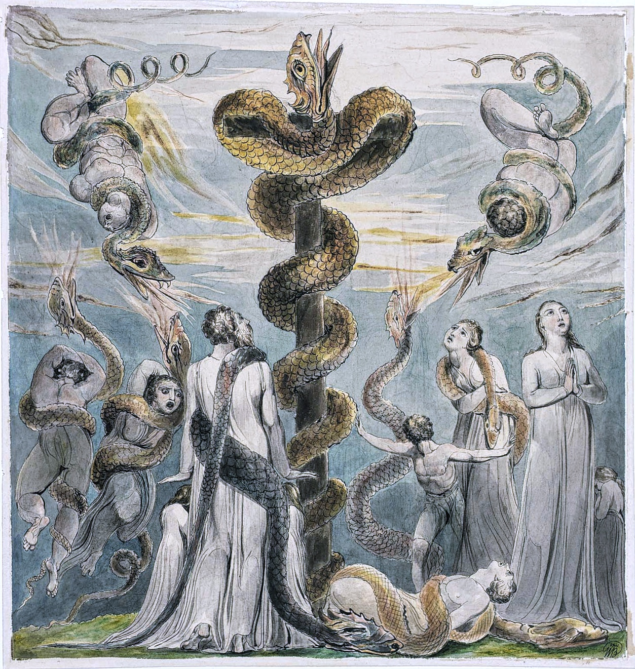 William Blake Moses and the brazen serpent