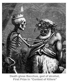 Alchohol, death, and Bacchus