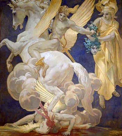 Perseus on Pegasus Slaying Medusa3