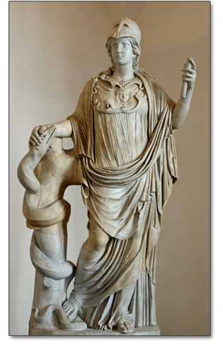 athena and serpent