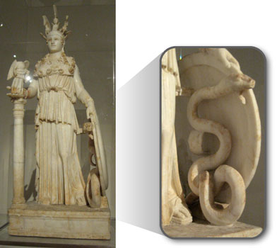 athena and her serpent