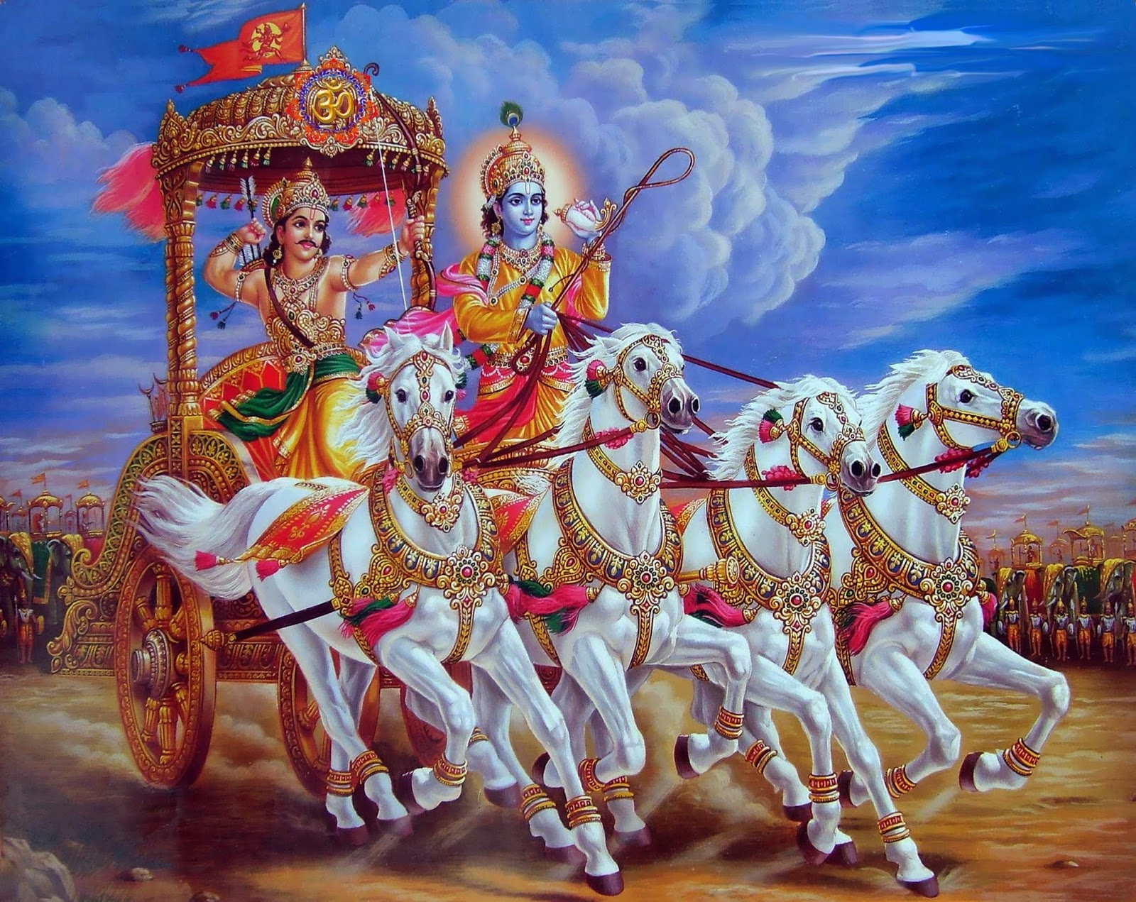 Krishna (Christ) and Arjuna (Human Soul) on the Battlefield of Life