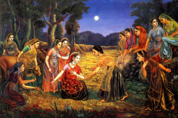 The Gopis longing for Krishna [Christ]