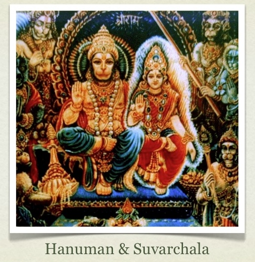 Hanuman married Suvarchala, the daughter of the Sun