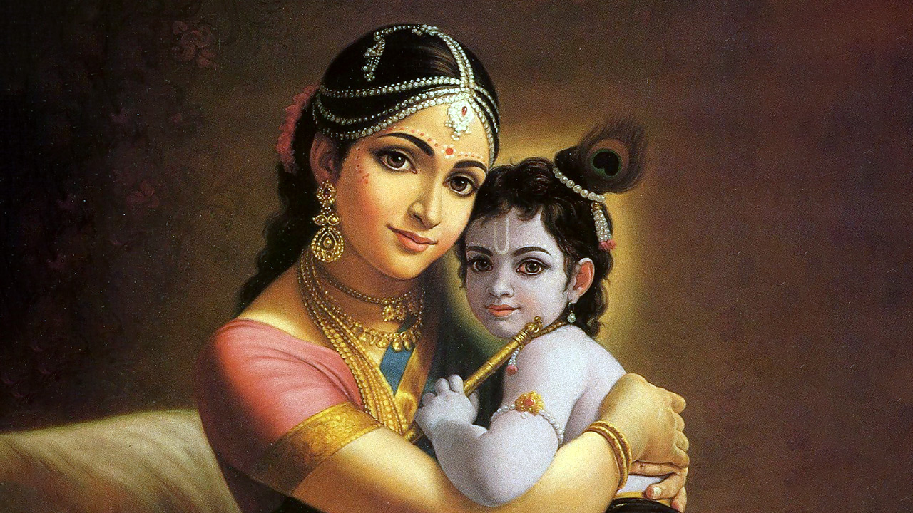 Krishna and His Mother