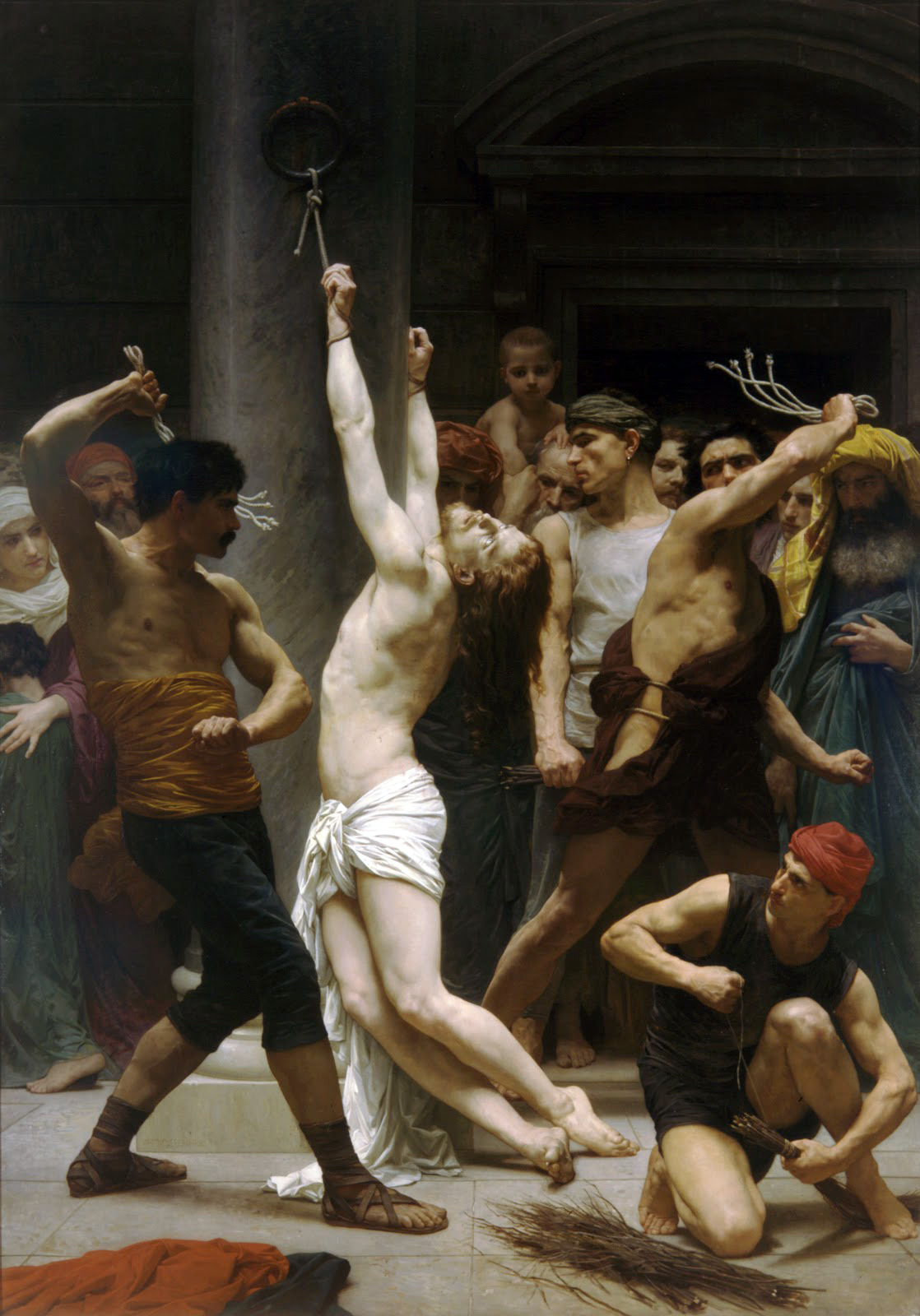 William-Adolphe Bouguereau 1825-1905 - The Flagellation of Our Lord Jesus Christ 1880