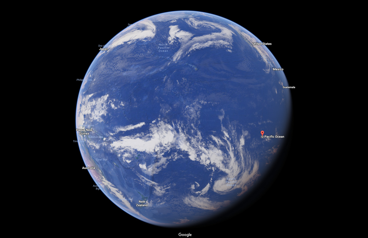 pacific ocean satellite