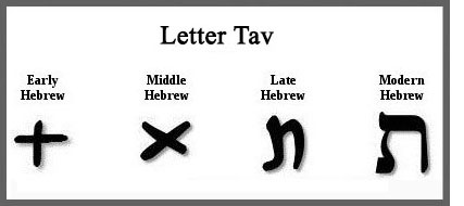 Ancient letter Tau or Tav