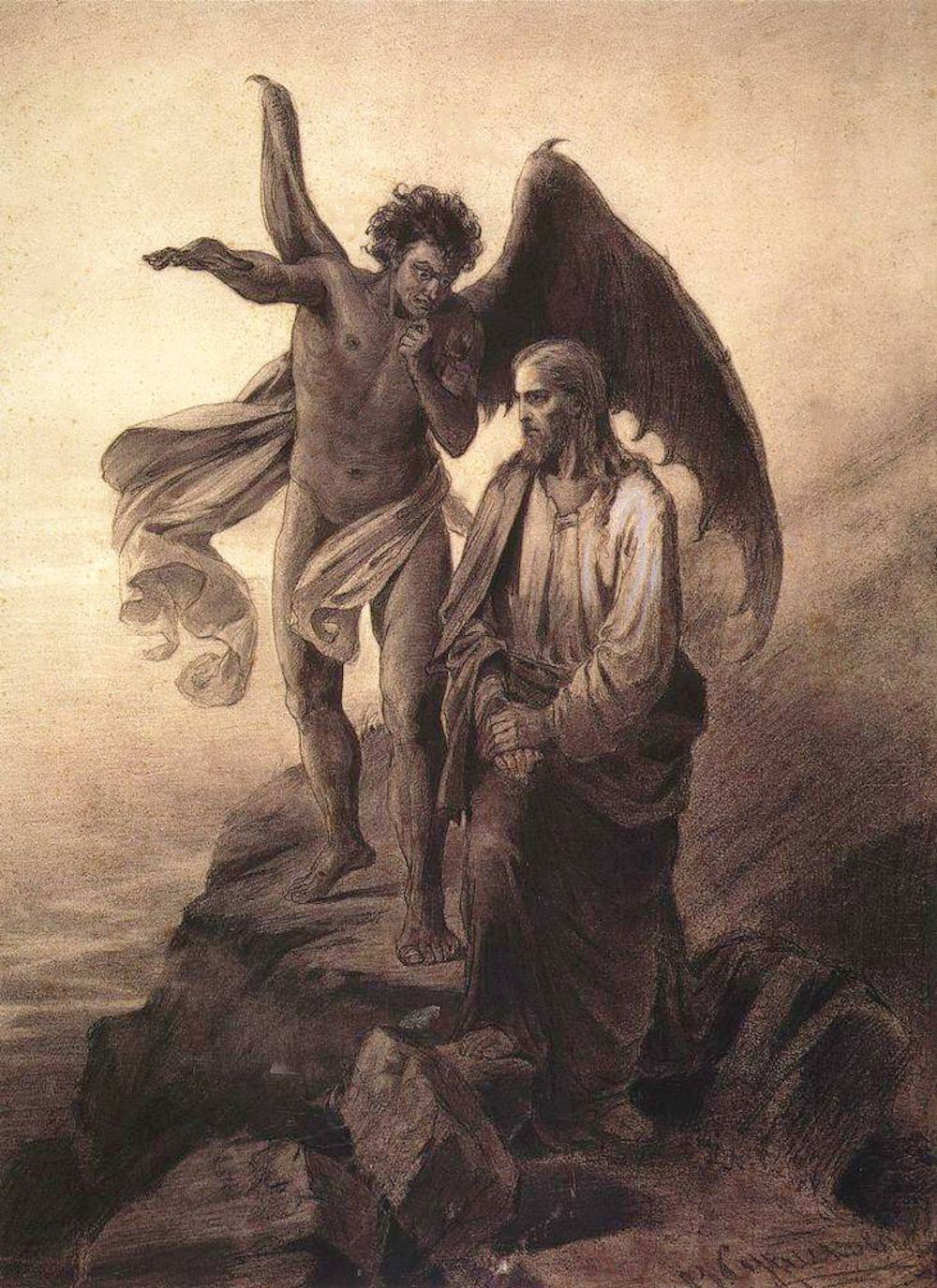 Temptation of Christ, by Vasili Surikov (1872)
