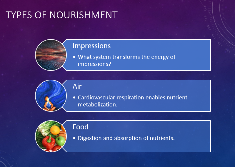 Three Types of Nourishment