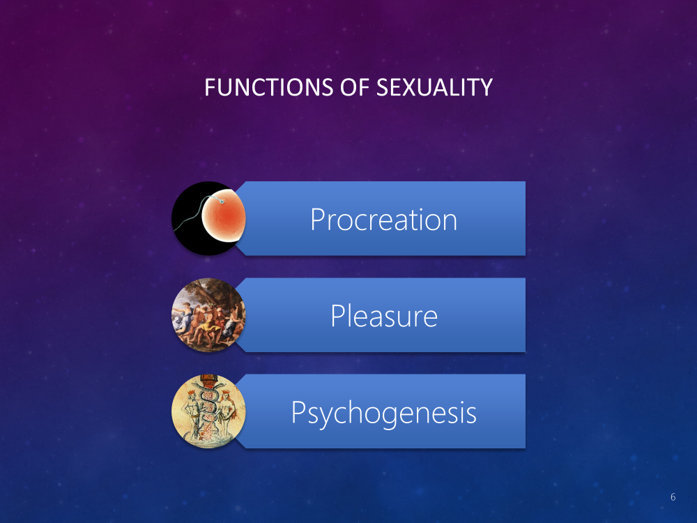 Three Functions of Sexuality: Procreation, Pleasure, Psychogenesis