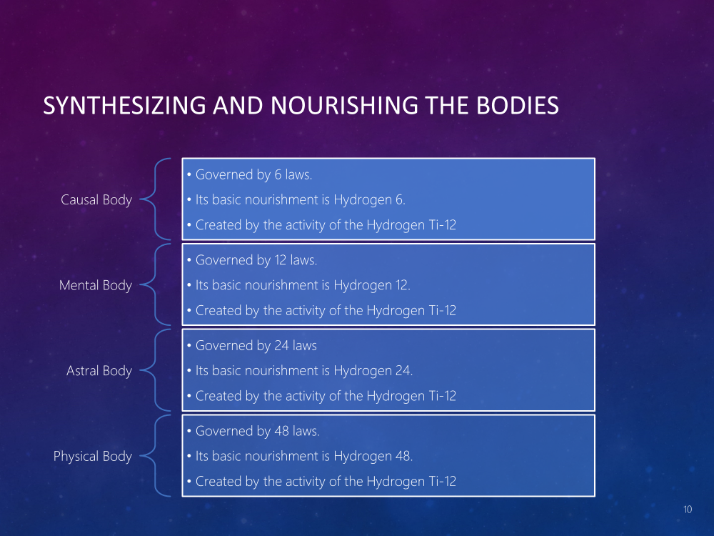 Synthesizing and Nourishing the Bodies