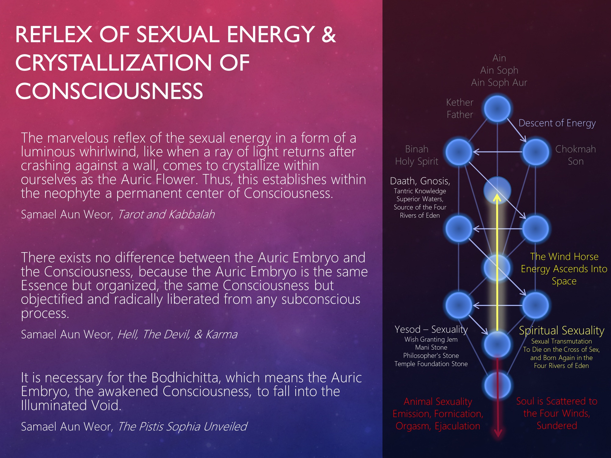 Reflex of Sexual Energy & Crystallization of Consciousness