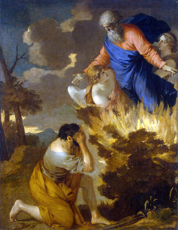 Bourdon Sebastien-Moses and the Burning Bush