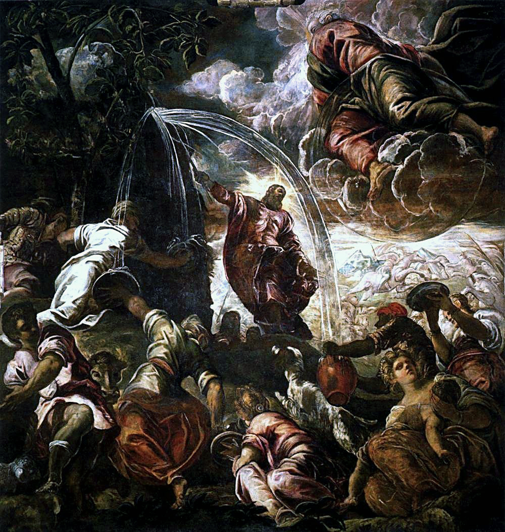 Moses Striking the Rock by Jacopo Tintoretto