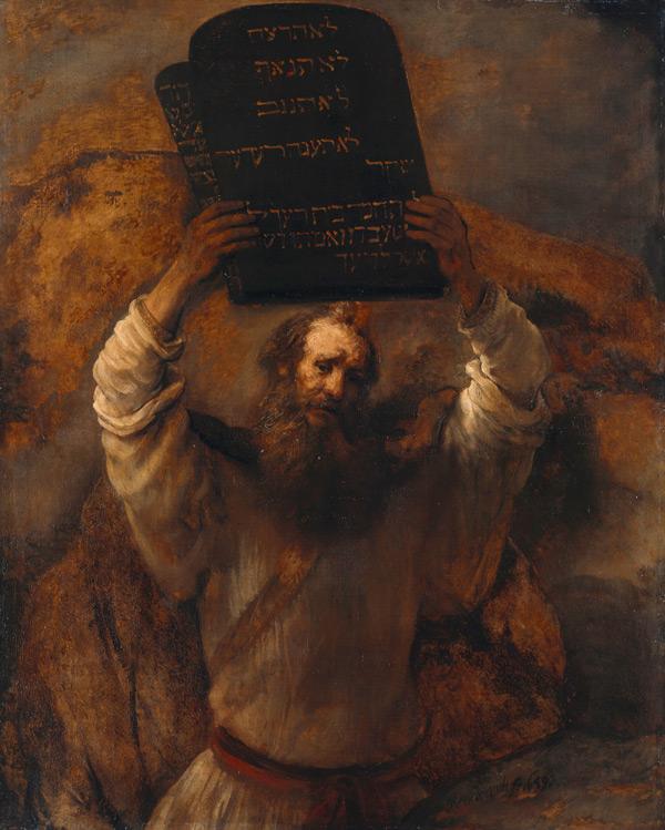 Rembrandt: Moses