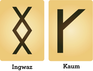 runes ingwaz and kaum