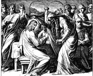 Head of jesus anointed