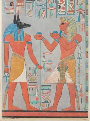 Le roi avec la tombe d'Anubis de Haremhab RENCONTRÉ DP234736
