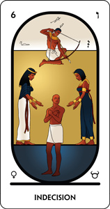 the arcanum 6 of the tarot